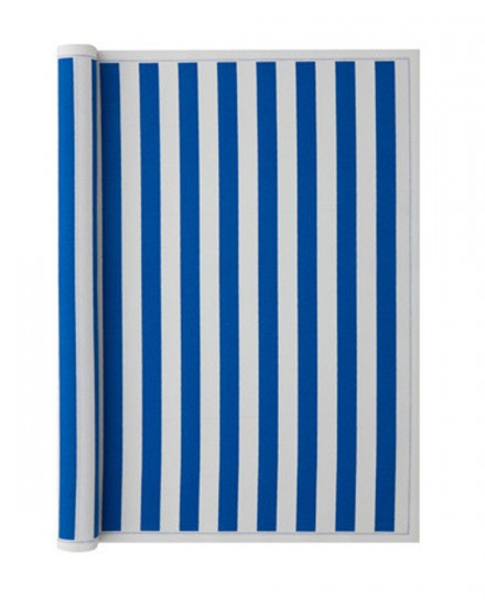 PLACEMAT 48X32 BEACH BLUE STRIPE