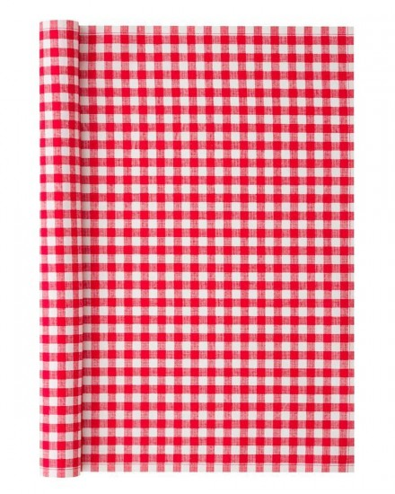 PLACEMAT 48X32 RED GINGHAM