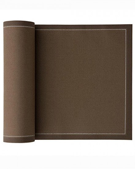 NAPKIN 32X32 TAUPE BROWN