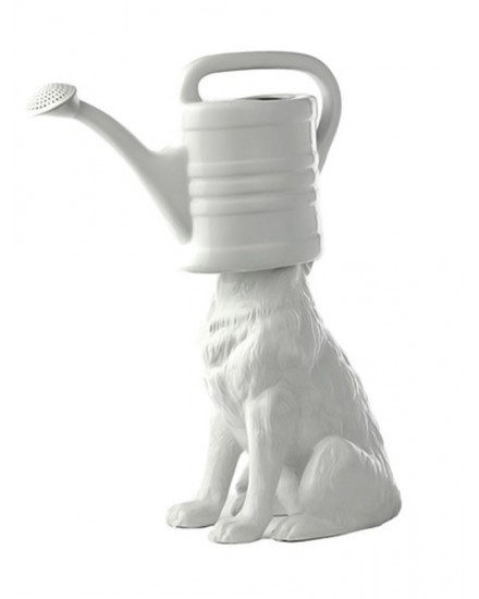 POLS POTTEN WOLF WATERING - CAN WHITE