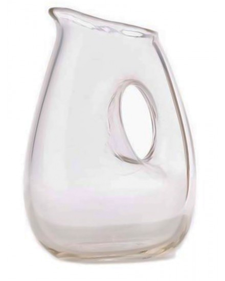 POLS POTTEN JUG WITH HOLE CLEAR