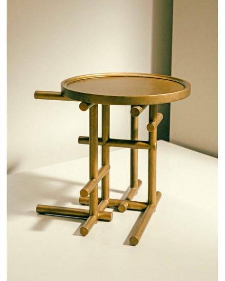 BIKA TAN SIDE TABLE GOLD