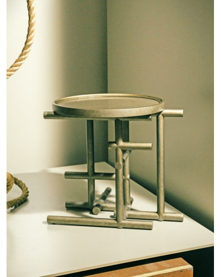 BIKA TAN SIDE TABLE CHAMPAGNE