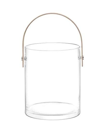 LSA CIRCLE CONTAINER & ASH HANDLE H24CM D 14,5CM CLEAR