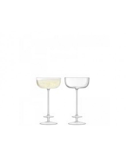 LSA CHAMPAGNE THEATRE CHAMPAGNE SAUCER 210ML TIER/CLEAR X2