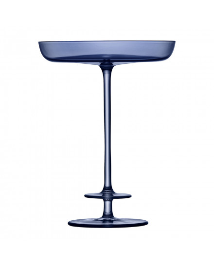 LSA CHAMPAGNE THEATRE PEDESTAL DISH H15,5CM TIER/MIDNIGHT BLUE