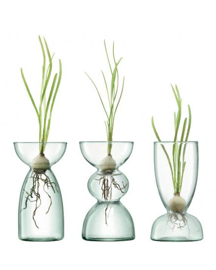 CANOPY TRIO VASE SET13CM CLEAR