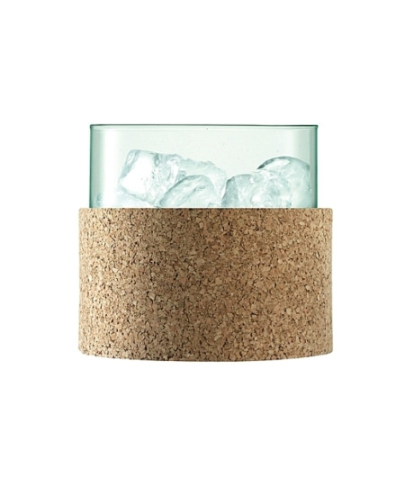 LSA CANOPY ICE BUCKET H15CM CLEAR/CORK
