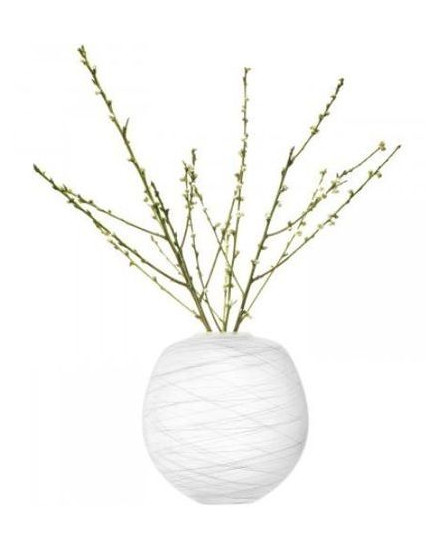 BOULDER VASE H31CM CHALK THREAD