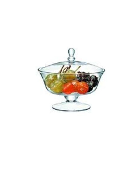 LSA SERVE COMPORT & LID H19,5CM CLEAR