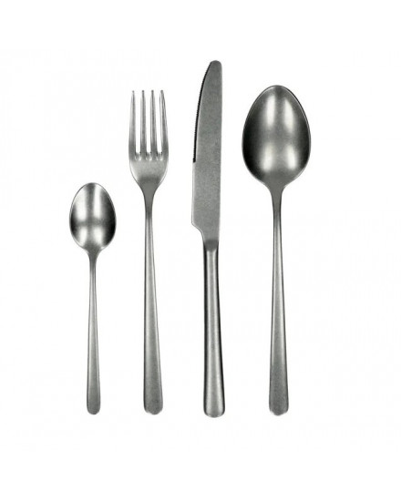 POMAX COQUILLE-SET 4 CUTLERY, INOX 18/10, SILVER