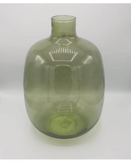 OLGA-VASE, GLASS, DIA.16,5 X H25CM, GREEN ,