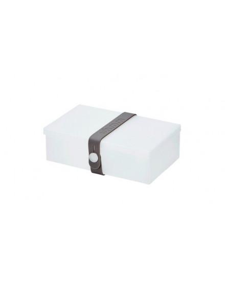 NO.01 TRANSPARENT WHITE BOX/DARK GREY STRAP