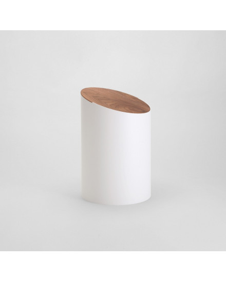SWING BIN S (White/walnut)