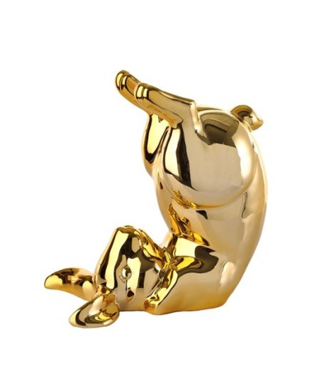 Moneybox Bunny bum gold