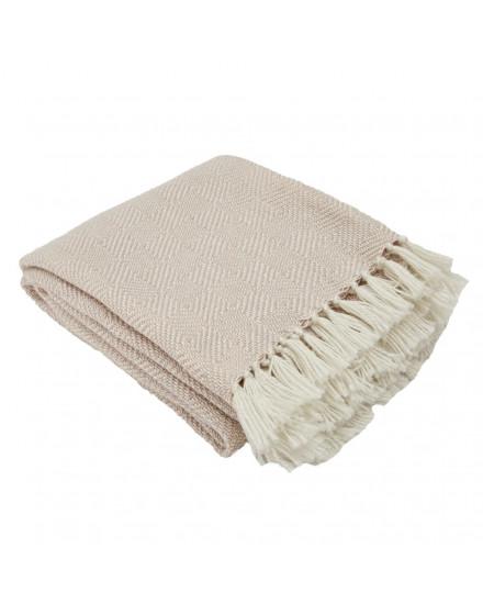 Shell/White Diamond Blanket