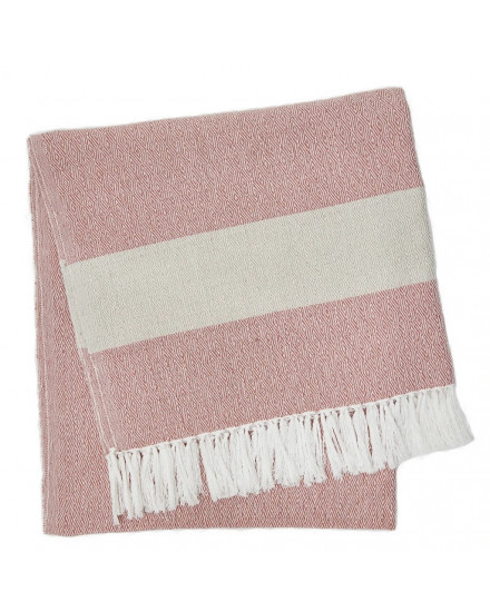 Coral/ Smoke Hammam Throw