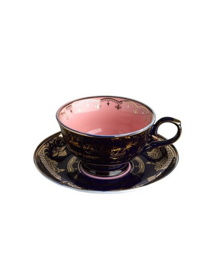 Tea Cup & Saucer Grandpa - Dark Blue