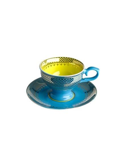 Espresso Cup & Saucer Grandma - Blue