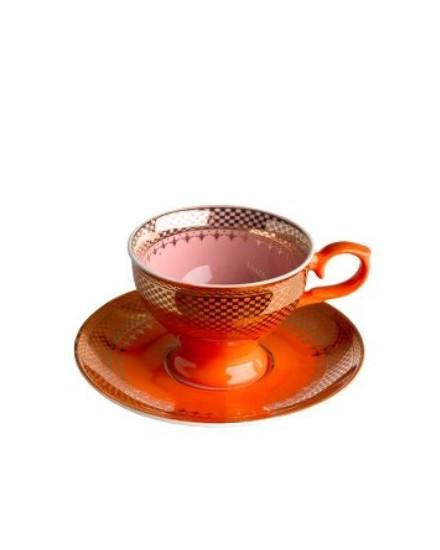 Espresso Cup & Saucer Grandma - Orange