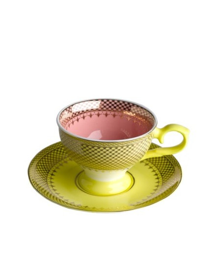 Espresso Cup & Saucer Grandma - Yellow
