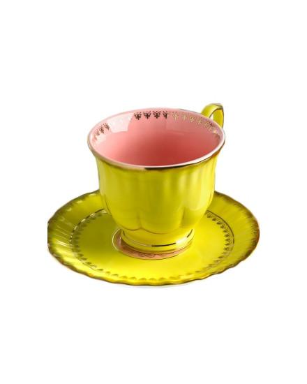 Tea Cup & Saucer Grandpa - Yellow
