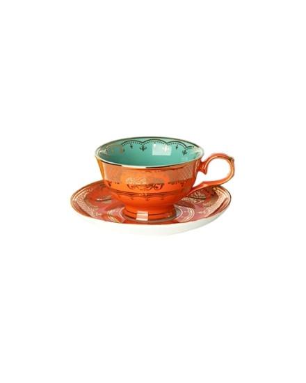 Tea Cup & Saucer Grandpa - Orange
