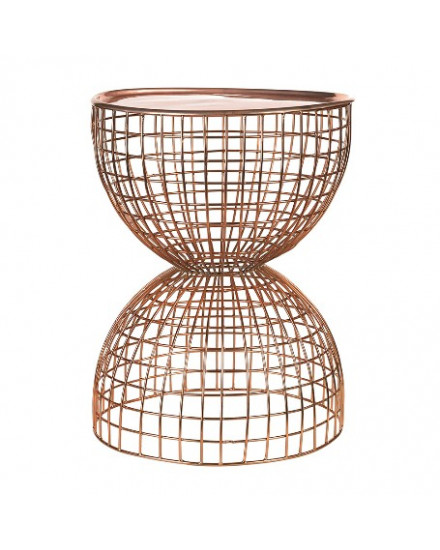 Table diabola wire copper / copper tray
