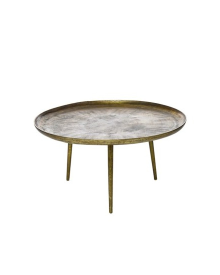Coffee table antique brass