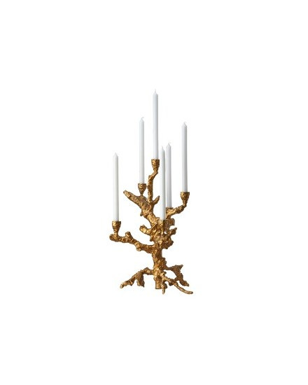Candle holder apple tree gold