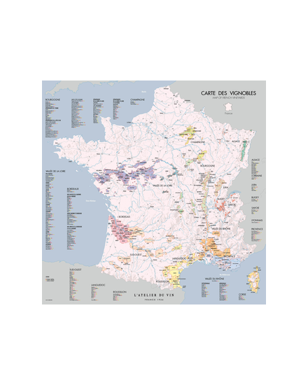 CARTE DES VIGNOBLES DE FRANCE