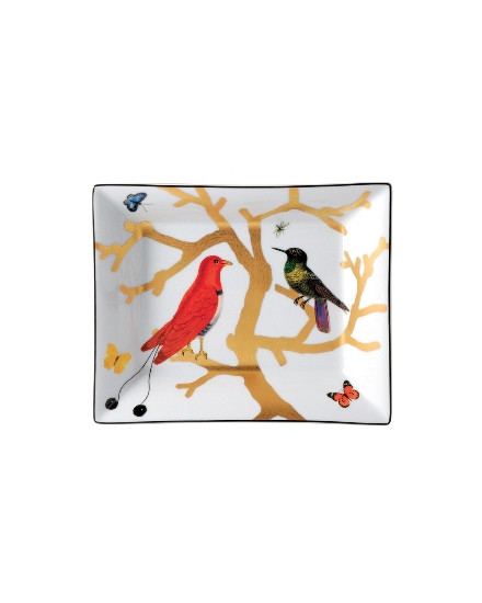 BERNARDAUD AUX OISEAUX, RECTANGULAR ASHTRAY