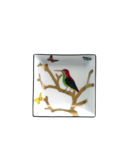 BERNARDAUD AUX OISEAUX, SMALL SQUARE ASHTRAY 80 X 80