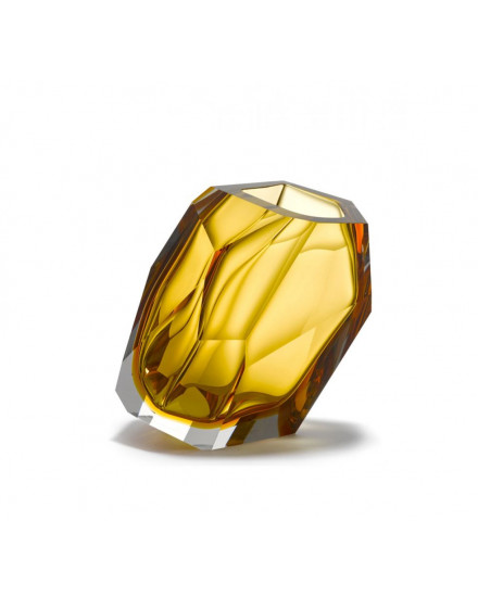 Crystal Rock Vase Small - Amber
