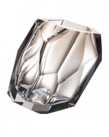 Crystal Rock Vase Small - Smoke
