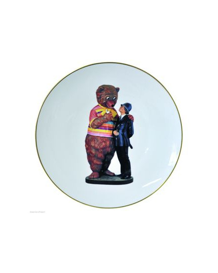 BERNARDAUD BANALITY, BEAR AND POLICEMAN