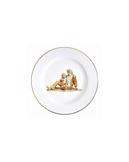 BERNARDAUD BANALITY, MICHAEL JACKSON ET BUBBLES, COFFRET PLACE SETTING