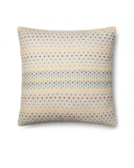 PILLOW - BLUE/MULTI 22X22 INCH