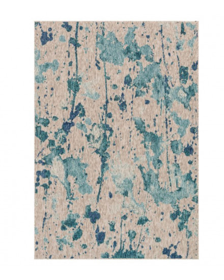 Newport Collection,NP-10 AQUA/GREY,5feet-3inch x 7feet-7inch