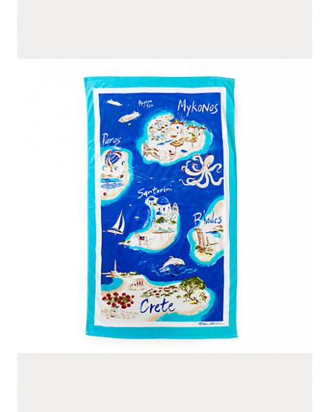 GREEK ISLES BEACH TOWEL