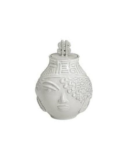 JONATHAN ADLER The Hip Hop Queen Canister - White