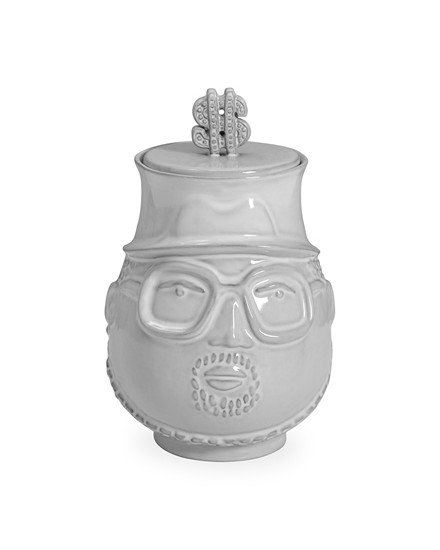 JONATHAN ADLER The Hip Hop King Canister - White - 27268