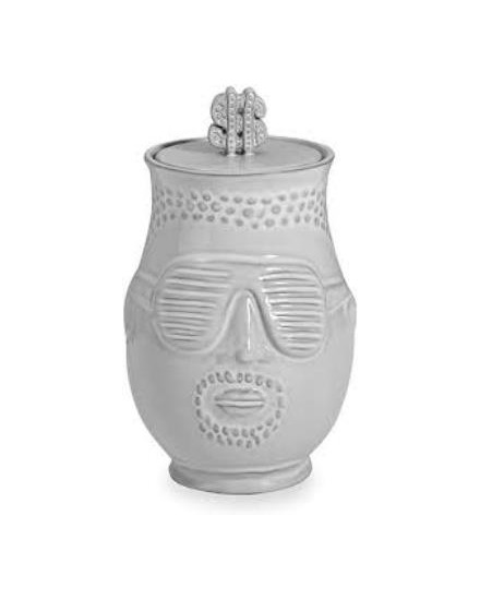 JONATHAN ADLER The Hip Hop Prince Canister - White -27269