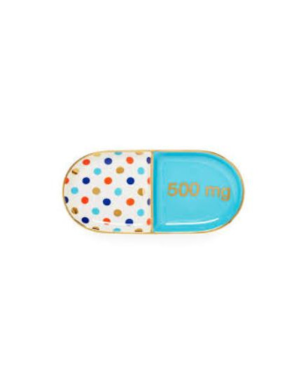 JONATHAN ADLER Pill Trinket Tray - Blue Multi - 27755