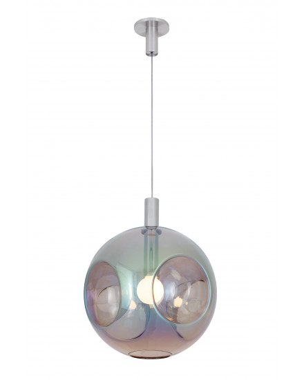 Globe Metro Pendant - Rainbow Blue by Cyril Dundera