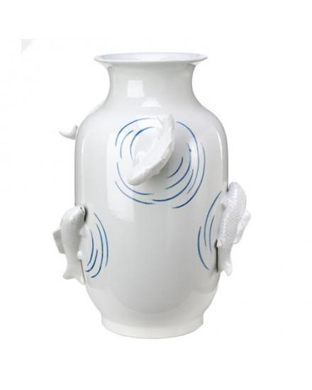 Vase Fish Pond blue