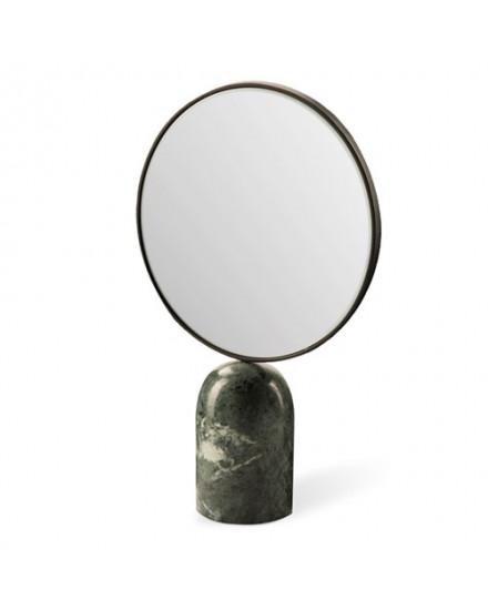 Mirror Round marble green