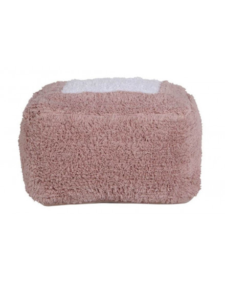POUFFE MARSHMALLOW SQUARE VINTAGE NUDE