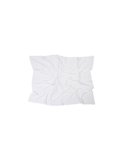 LORENA CANALS KNITTED BABY BLANKET BISCUIT WHITE
