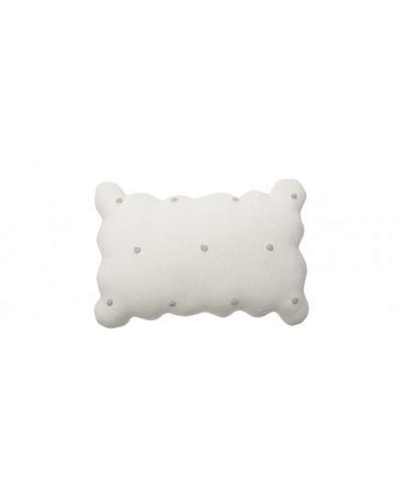LORENA CANALS KNITTED CUSHION BISCUIT IVORY